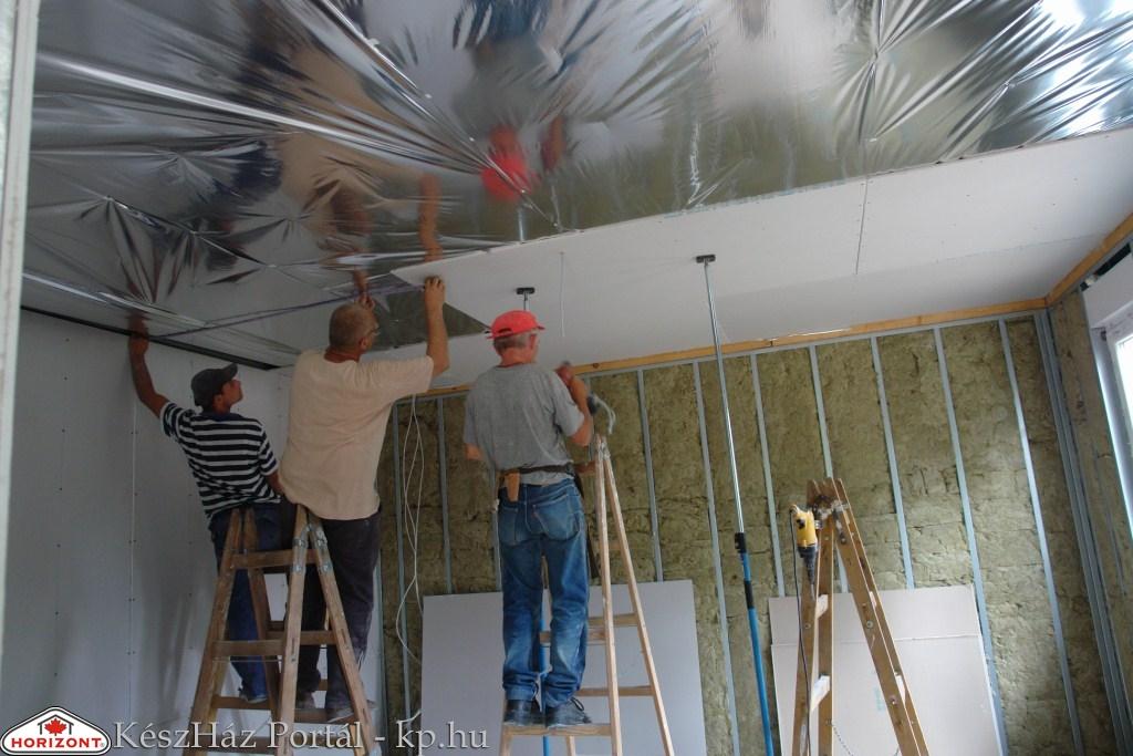 Photo of Készház építés. 21-22. nap. EnergyFriendHome készház álmennyezet gipszkartonozása és villanyszerelés